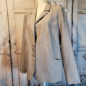 Venus Gray Blazer Jacket New Size 14 EU 44 Pockets